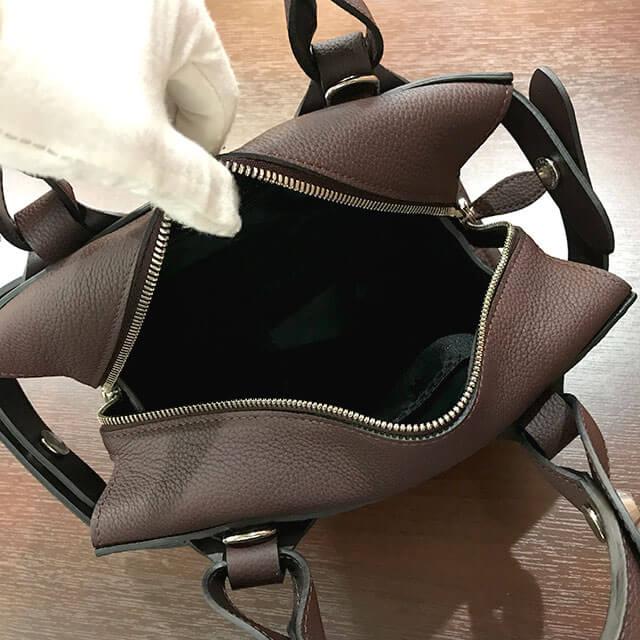 城東区のお客様からロンシャンのミニボストンバッグを買取_04