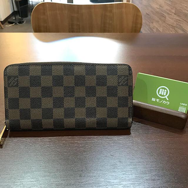阿倍野のお客様からヴィトンのダミエの長財布【ジッピーウォレット】を買取_01