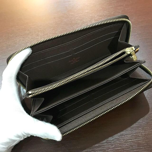 阿倍野のお客様からヴィトンのダミエの長財布【ジッピーウォレット】を買取_04