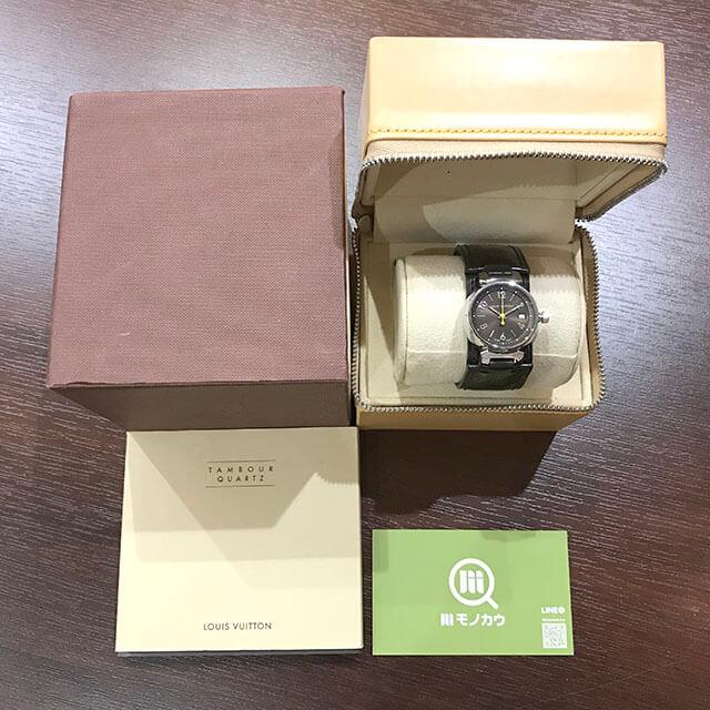 五條のお客様からヴィトンの腕時計【タンブール】を買取_01