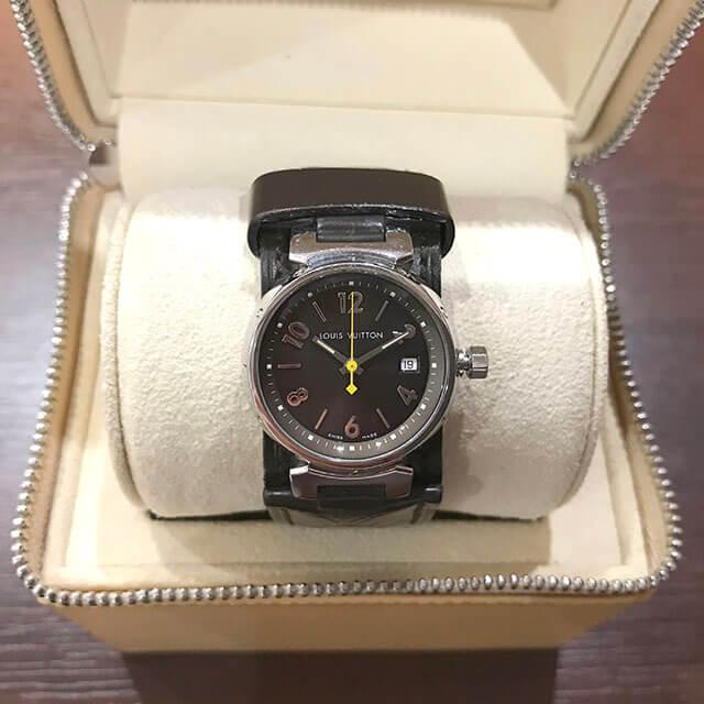 五條のお客様からヴィトンの腕時計【タンブール】を買取_02
