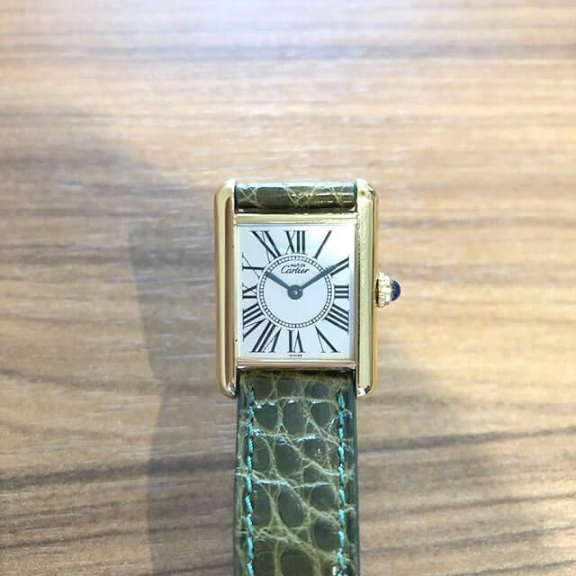 深江橋のお客様からカルティエの腕時計【マスト タンク ヴェルメイユ】を買取_02