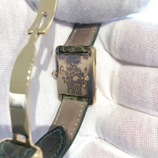 深江橋のお客様からカルティエの腕時計【マスト タンク ヴェルメイユ】を買取_03