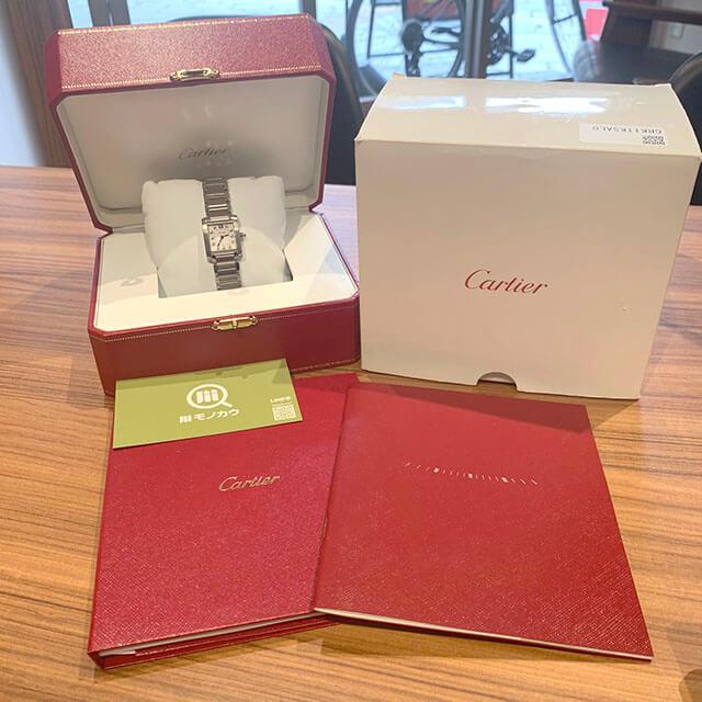 梅田のお客様からカルティエの腕時計【タンクフランセーズSM】を買取_01