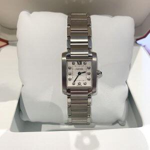 梅田のお客様からカルティエの腕時計【タンクフランセーズSM】を買取