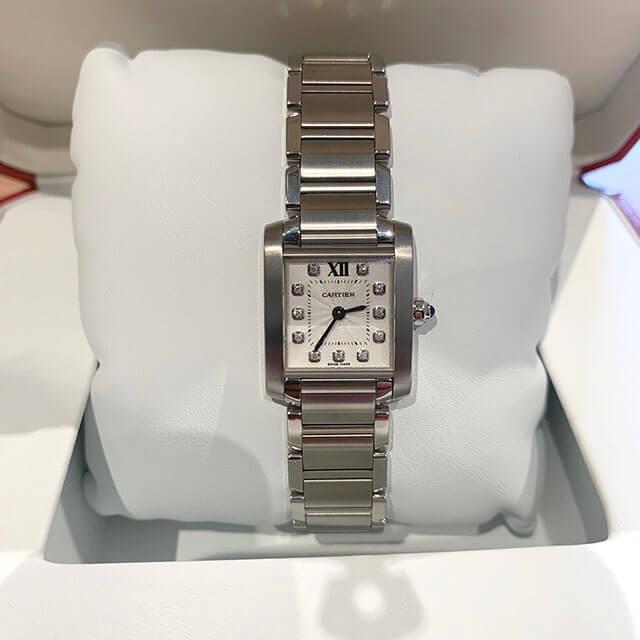 梅田のお客様からカルティエの腕時計【タンクフランセーズSM】を買取_02