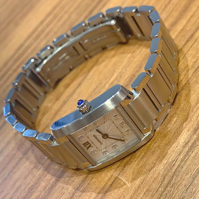 梅田のお客様からカルティエの腕時計【タンクフランセーズSM】を買取_03