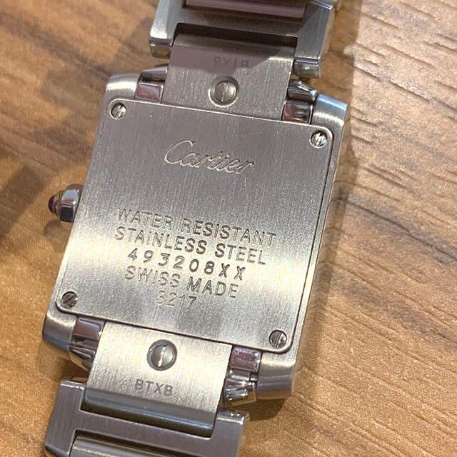 梅田のお客様からカルティエの腕時計【タンクフランセーズSM】を買取_04