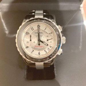 鴫野のお客様からシャネルの腕時計【J12 スーパーレッジェーラ】を買取