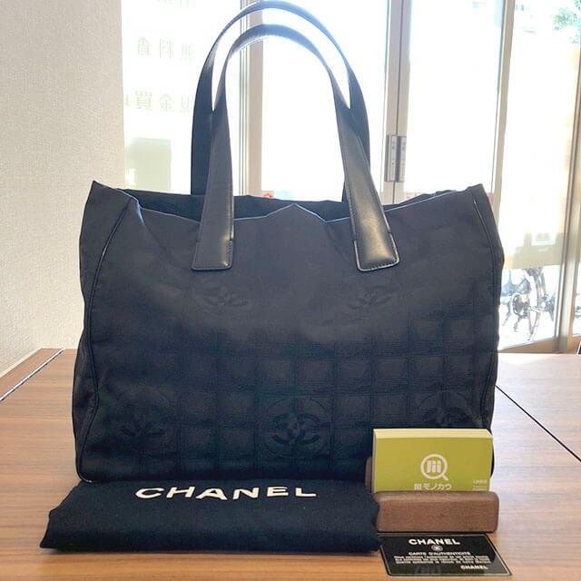 堺のお客様からシャネルの【ニュートラベルライン】のトートバッグを買取_01