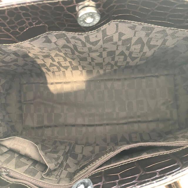 東大阪のお客様からフルラの型押しクロコのハンドバッグを買取_04
