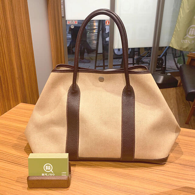 今里のお客様からエルメスのバッグ【ガーデンパーティ】を買取_01