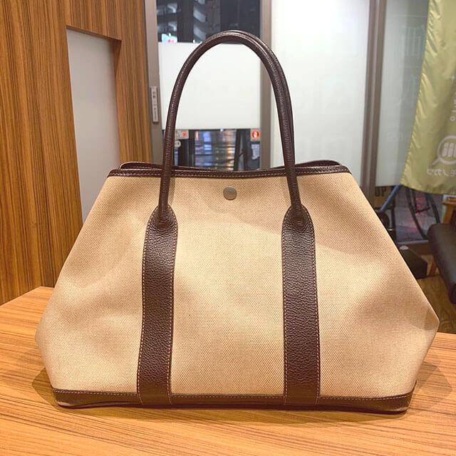 今里のお客様からエルメスのバッグ【ガーデンパーティ】を買取_02
