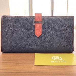 鴫野のお客様からエルメスの長財布【ベアン スフレ】を買取