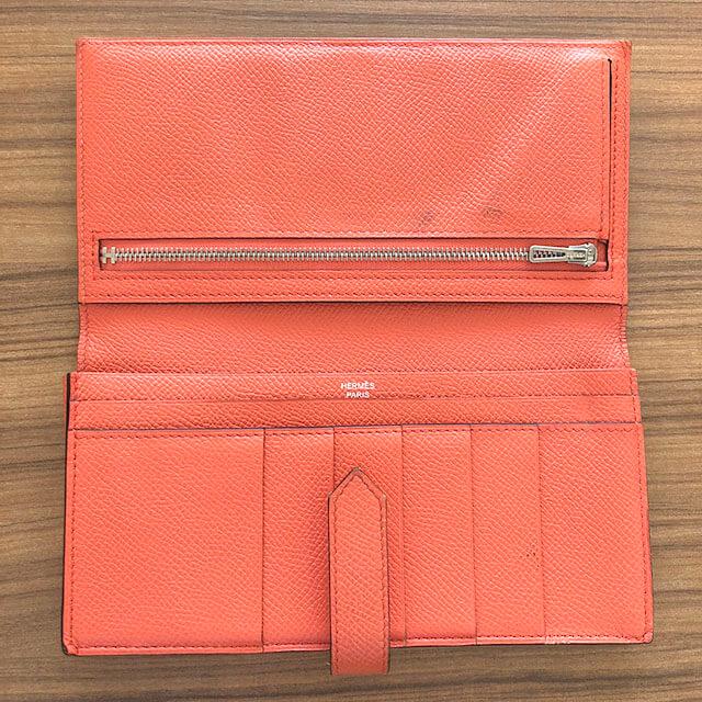 鴫野のお客様からエルメスの長財布【ベアン スフレ】を買取_03