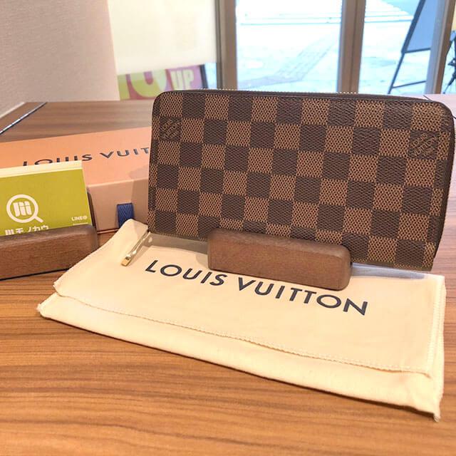 上新庄のお客様からヴィトンのダミエの長財布【ジッピーウォレット】を買取_01