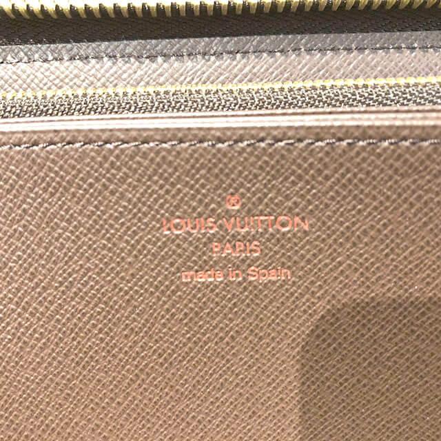 上新庄のお客様からヴィトンのダミエの長財布【ジッピーウォレット】を買取_03