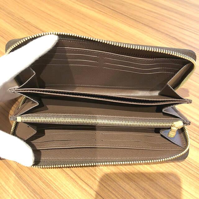 上新庄のお客様からヴィトンのダミエの長財布【ジッピーウォレット】を買取_04