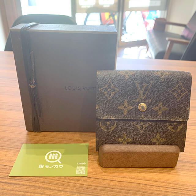 モノカウ緑橋店にて東成区のお客様からヴィトンのWホック財布を買取_01