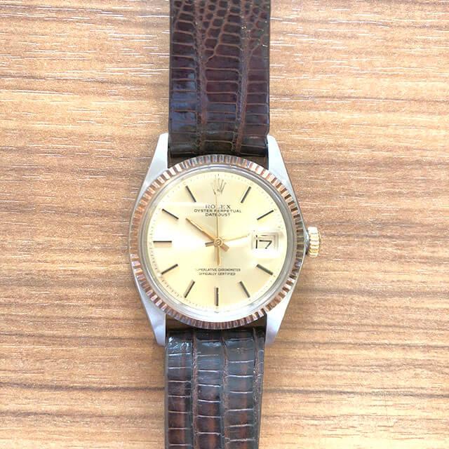大阪のお客様からロレックスの腕時計【デイトジャスト(Ref.1601)】を買取_02