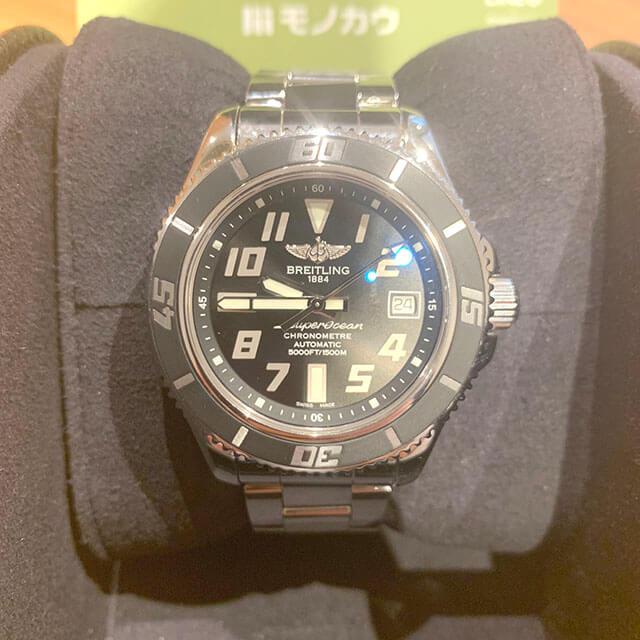 鴫野のお客様からブライトリングの腕時計【スーパーオーシャン】を買取_02