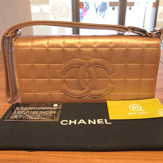 大阪のお客様からシャネルの【チョコバー】のショルダーバッグを買取_01