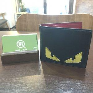 都島のお客様からフェンディのモンスター【バッグバグズ】の二つ折り財布を買取