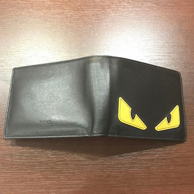都島のお客様からフェンディのモンスター【バッグバグズ】の二つ折り財布を買取_02