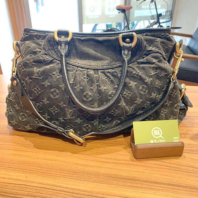 岸里のお客様からヴィトンのモノグラムデニムのバッグ【ネオカヴィMM】を買取_01