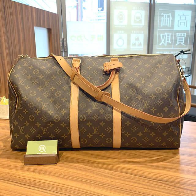 岸里のお客様からヴィトンのボストンバッグ【キーポル・バンドリエール55】を買取_01