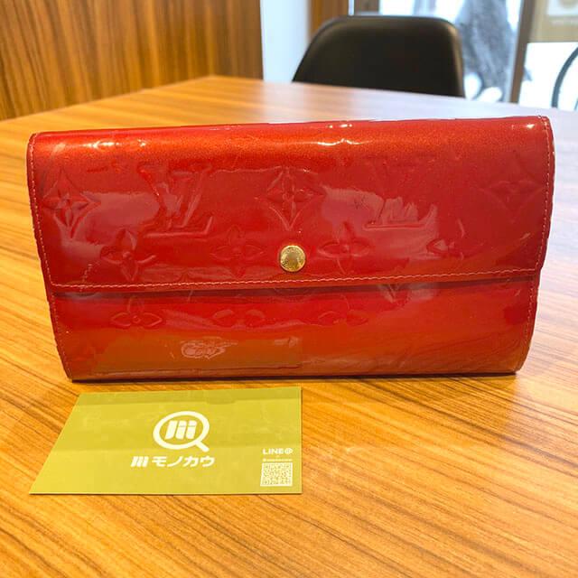 西九条のお客様からヴィトンのヴェルニの長財布【ポルトフォイユ・サラ】を買取_01