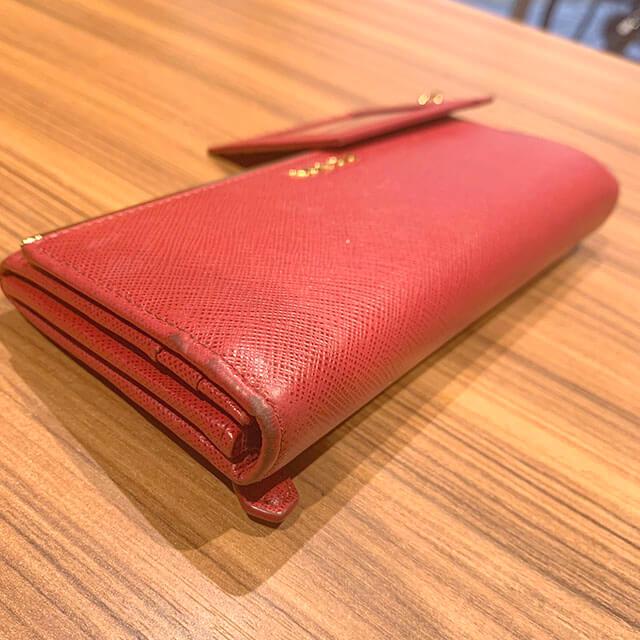 高槻のお客様からプラダの【サフィアーノメタル】の長財布を買取_02