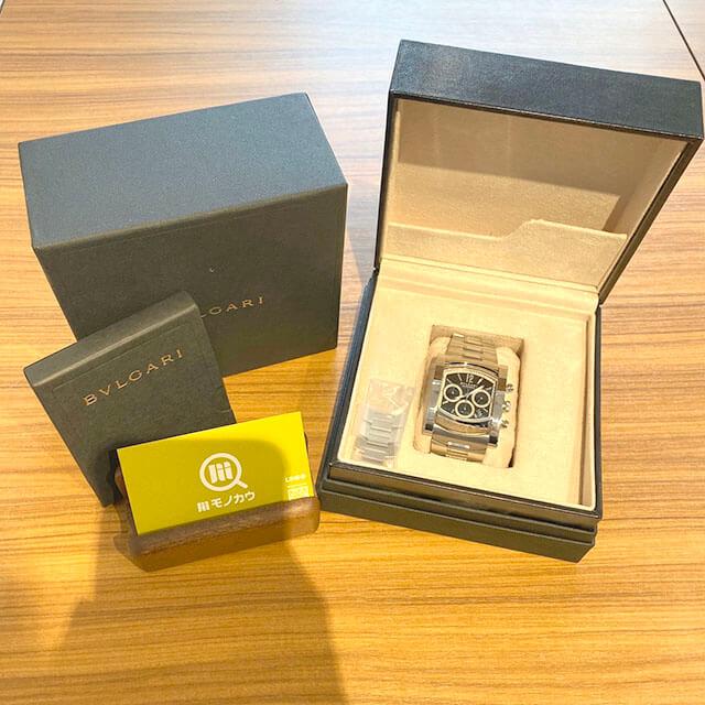 門真のお客様からブルガリの腕時計【アショーマ クロノ】を買取_01