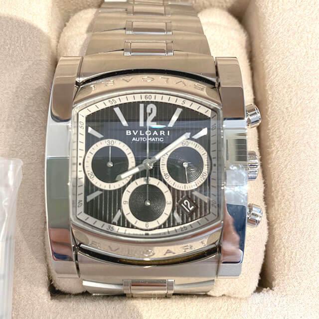 門真のお客様からブルガリの腕時計【アショーマ クロノ】を買取_02