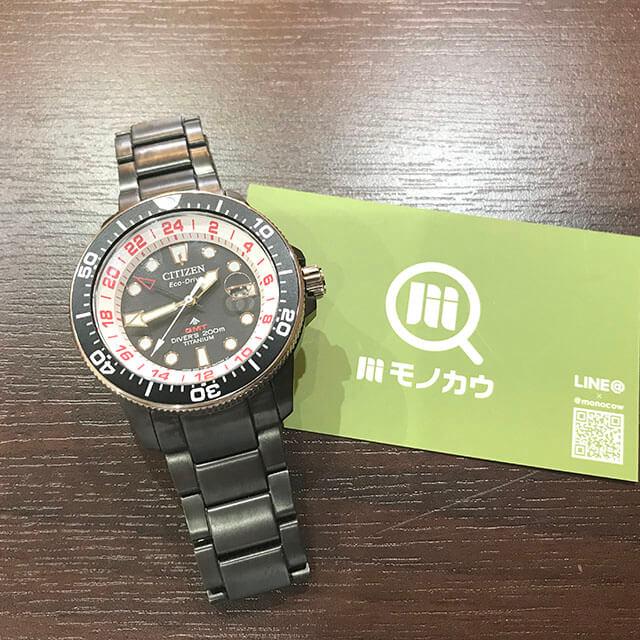 玉造のお客様からシチズンの腕時計【プロマスター】ラグビー日本代表モデルを買取_01