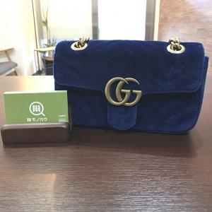 玉造のお客様からグッチの【GGマーモント】チェーンショルダーバッグを買取