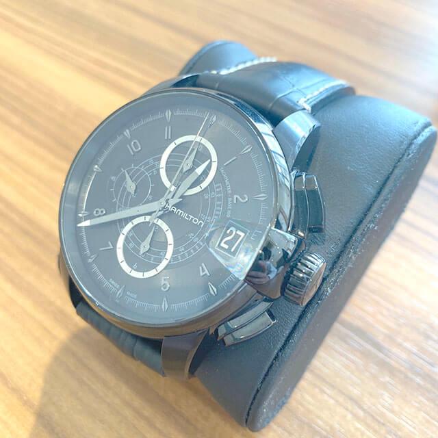 上本町のお客様からハミルトンの腕時計【レイルロード クロノ】を買取_02