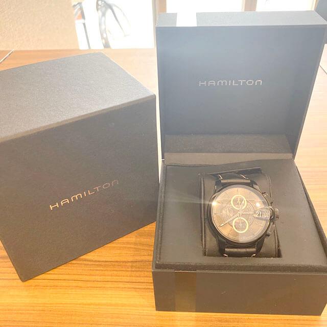 上本町のお客様からハミルトンの腕時計【レイルロード クロノ】を買取_01