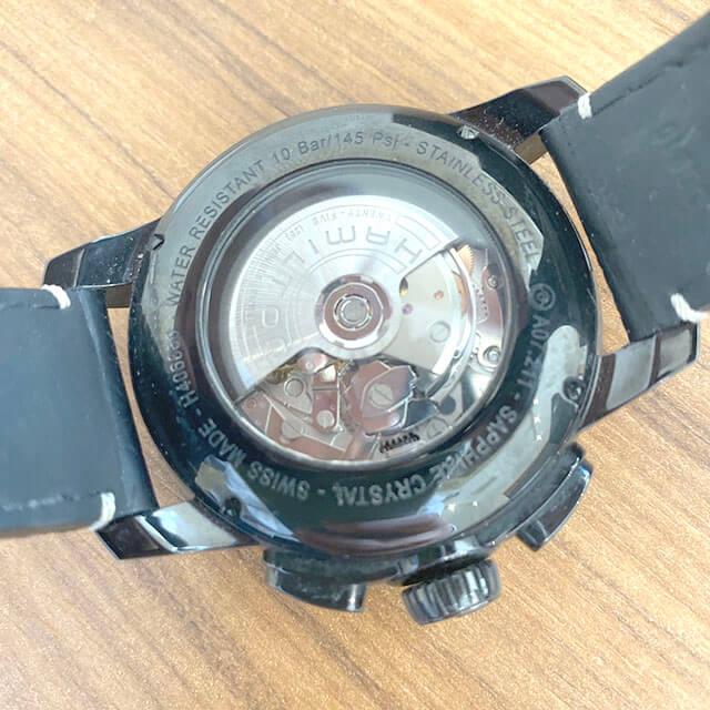 上本町のお客様からハミルトンの腕時計【レイルロード クロノ】を買取_03