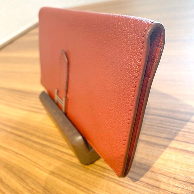等々力のお客様からエルメスの財布【ベアン】を買取_03