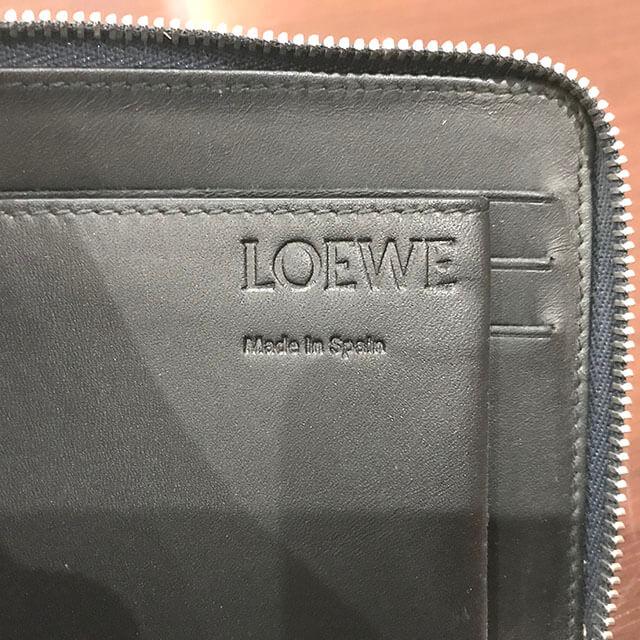 玉造のお客様からロエベの【リピート アナグラム】の財布を買取_03