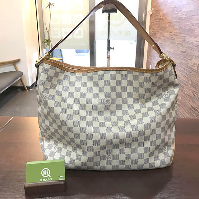 鶴橋のお客様からヴィトンのダミエアズールのバッグ【ディライトフルPM】を買取_01