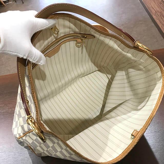 鶴橋のお客様からヴィトンのダミエアズールのバッグ【ディライトフルPM】を買取_03
