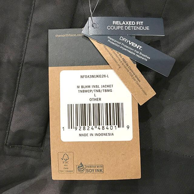 中百舌鳥(なかもず)のお客様からノースフェイスの【バーラム インシュレーテッド ジャケット】を買取_03