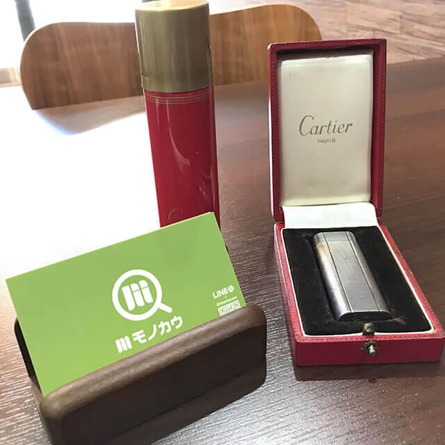 モノカウ心斎橋店にてカルティエのライターを買取_01