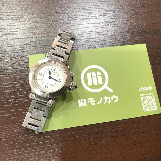 モノカウ玉造店にてカルティエの腕時計【ミスパシャ】を買取_01