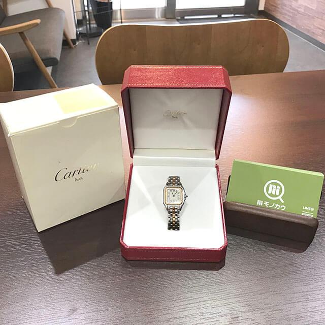 大阪のお客様からカルティエの腕時計【パンテール】を買取_03