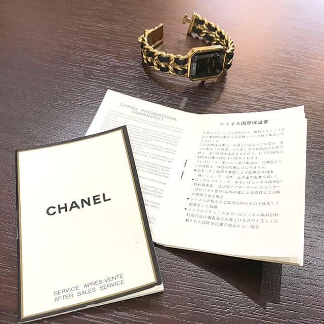 大阪のお客様からシャネルの腕時計【プルミエール】を買取_04
