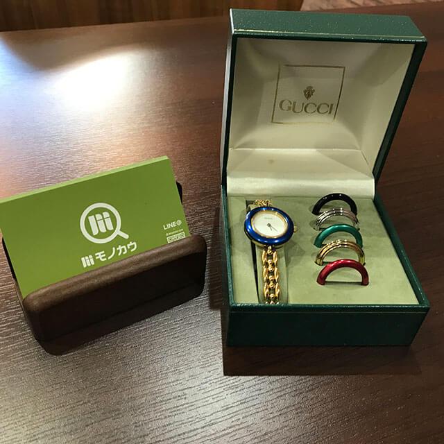 モノカウ心斎橋店にてグッチの腕時計【チェンジベゼル】を買取_01