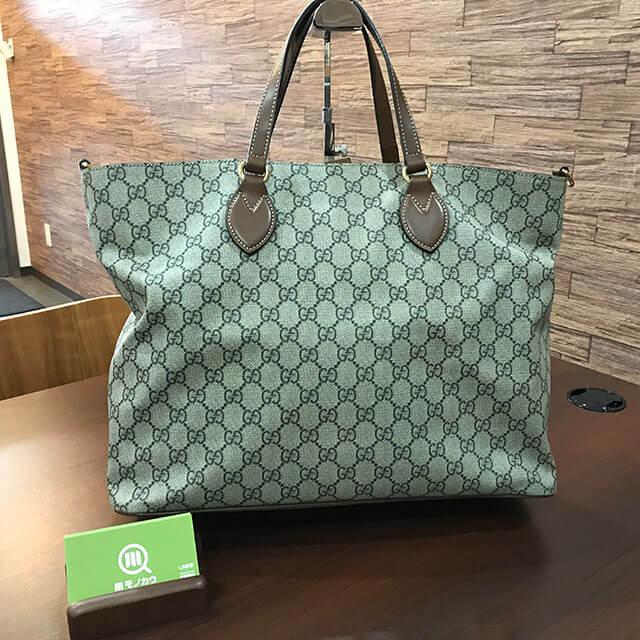 モノカウ緑橋店にてグッチの【GGスプリーム】2wayバッグを買取_01